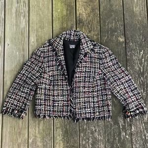 Muse Crop Rainbow Tweed Jacket